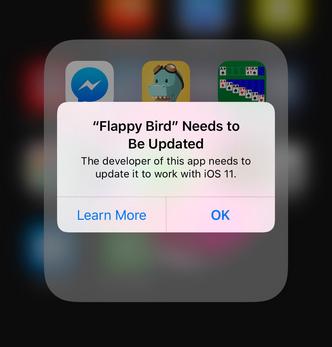 flappy bird update ios 11