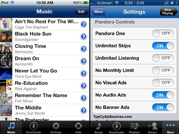 downloader app pandora jailbreak
