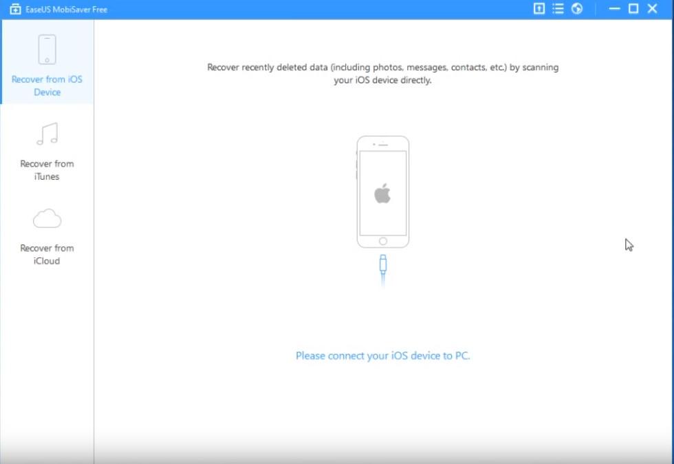 Eeaseus data iPhone recovery