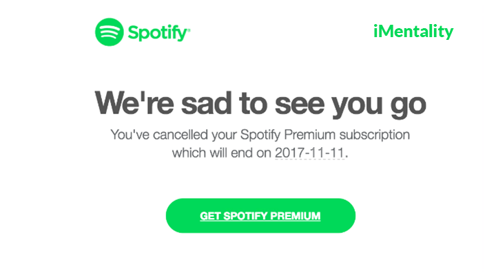 how to cancel spotify premium subscription imentality. Black Bedroom Furniture Sets. Home Design Ideas
