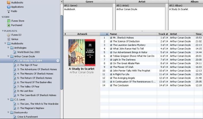 put audiobooks on itunes