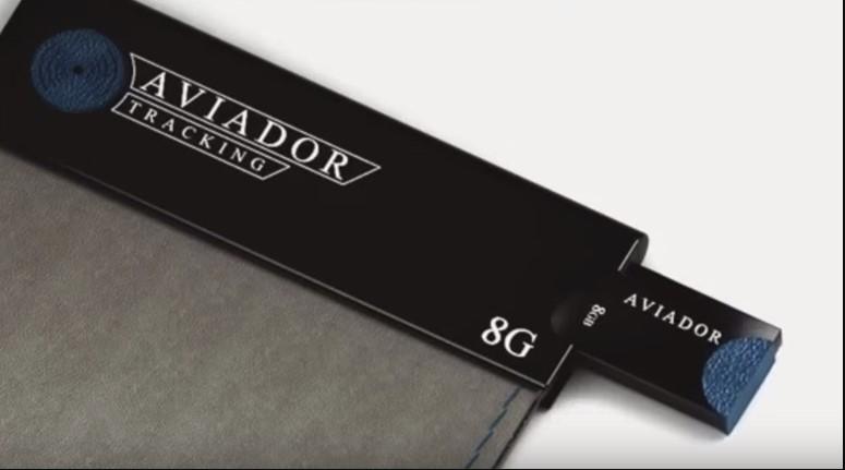 aviador wallet with flash