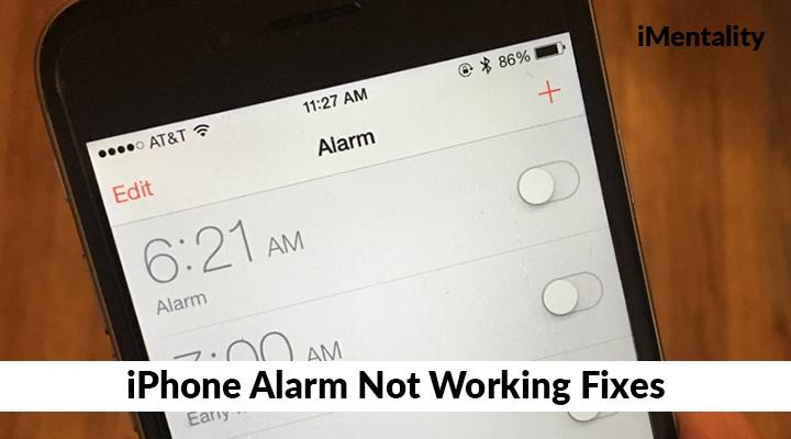 iPhone alarm not working