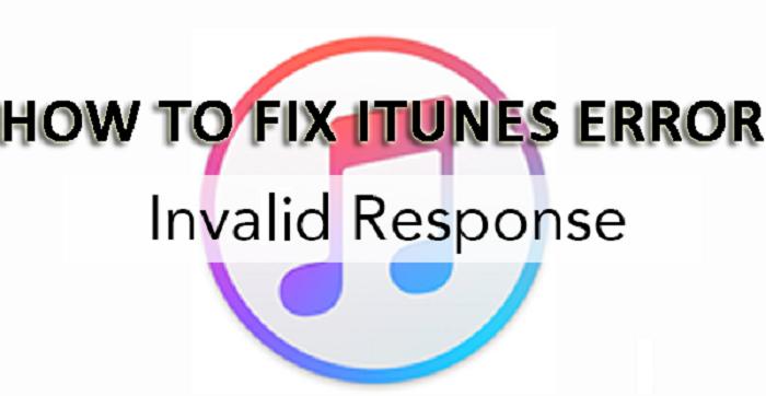 itunes invalid response error