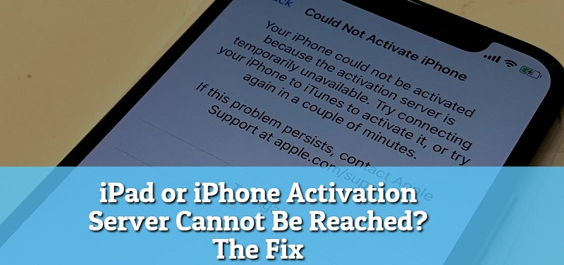iPhone activation server error