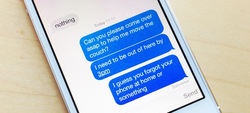 imessage showing texts