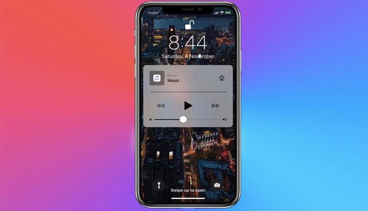 iphone lock screen music widget
