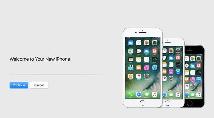 restore data new iphone