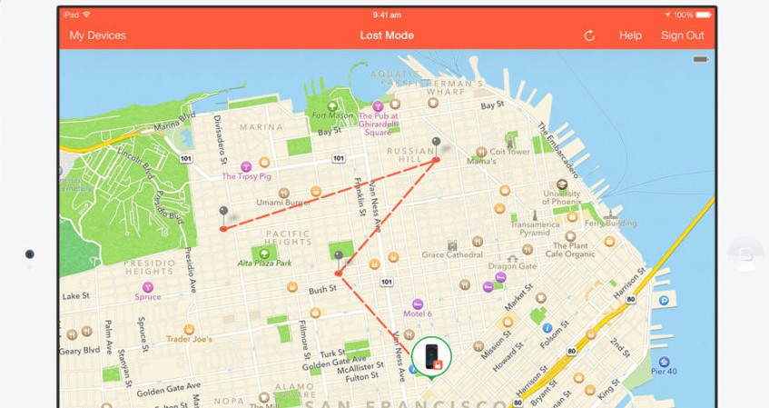 track an iphone location