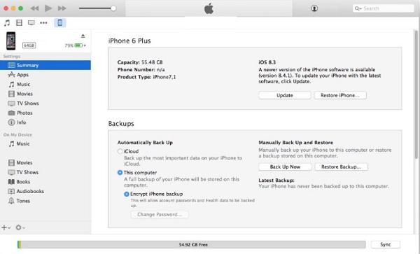 update iTunes on iOS