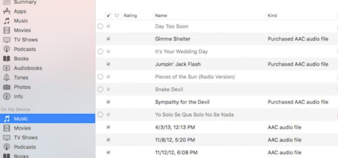 iTunes dotted circle greyed out issue