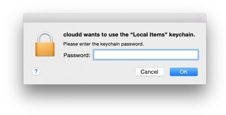 keychain error mac