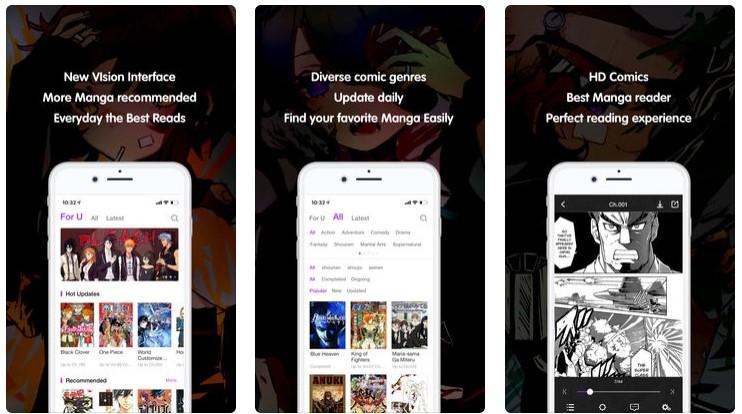 MangaZone app for iOS