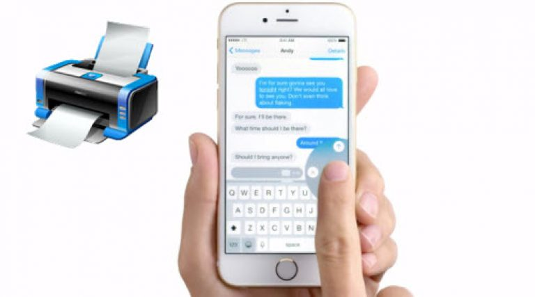 Printing iPhone texts