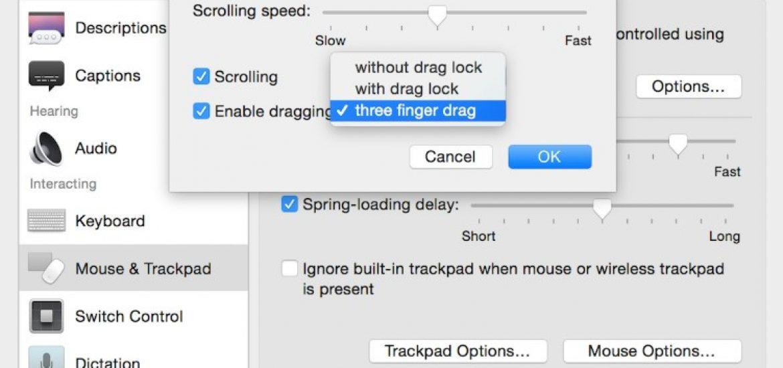 Drag and drop mac