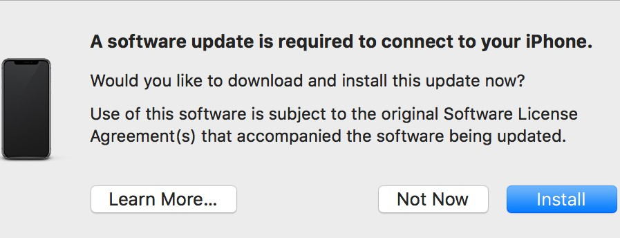 Software update required
